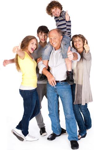 Gelukkig-gezin